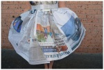 Newspaper dress: skirt
