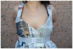 Newspaper dress: top