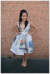 Newspaper dress outfit