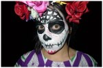 Day of the Dead make-up face close up