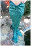 Homemade mermaid tail