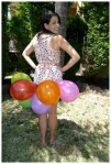 Balloon skirt from the back
