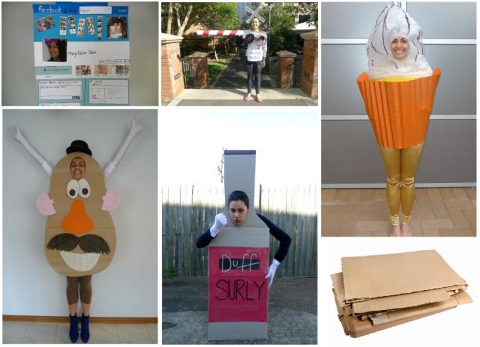 5 Easy Halloween Cardboard Costumes