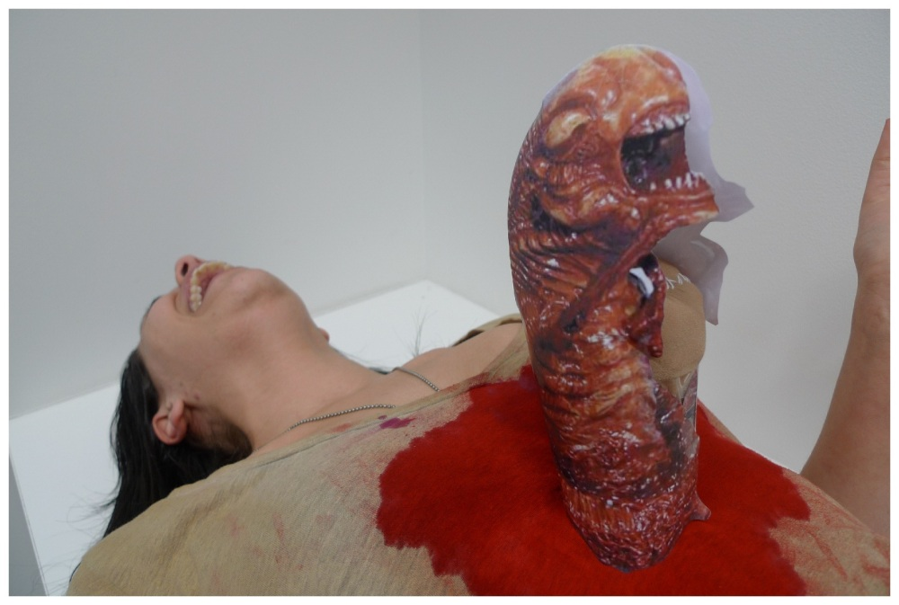 How to: Alien coming out of stomach costume