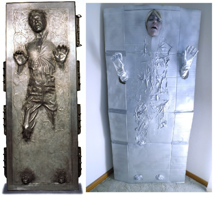Homemade Han Solo Carbonite costume