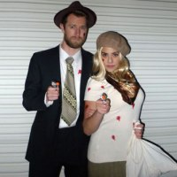 Bonnie and Clyde Shot Up Costumes