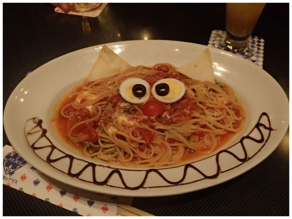 Cheshire cat pasta