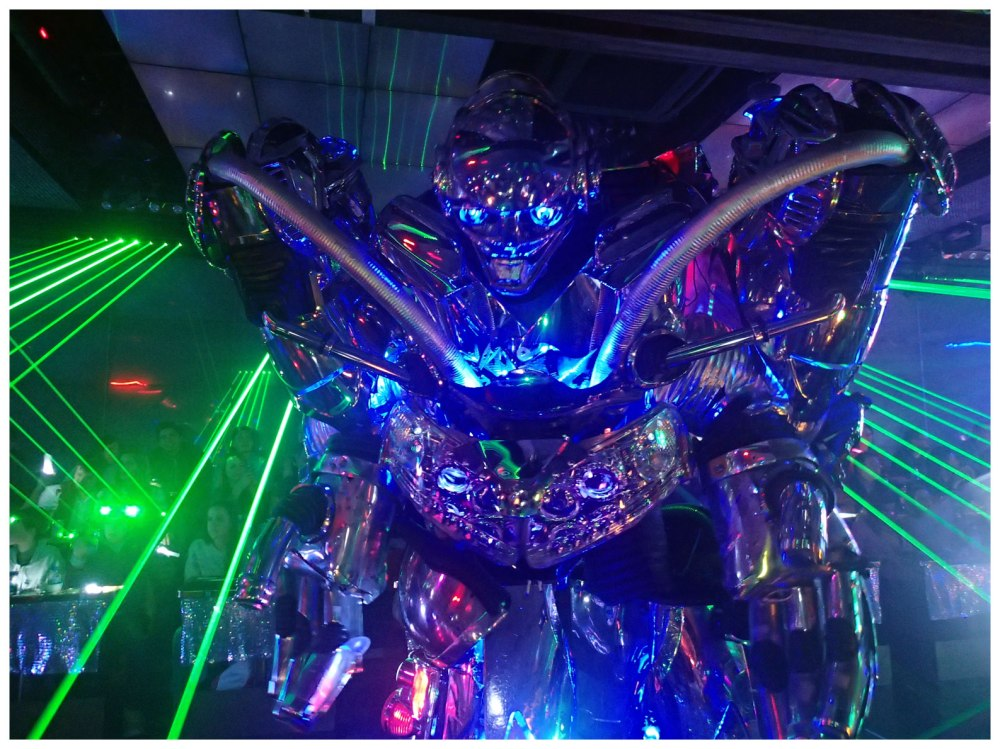 Shiny laser robot