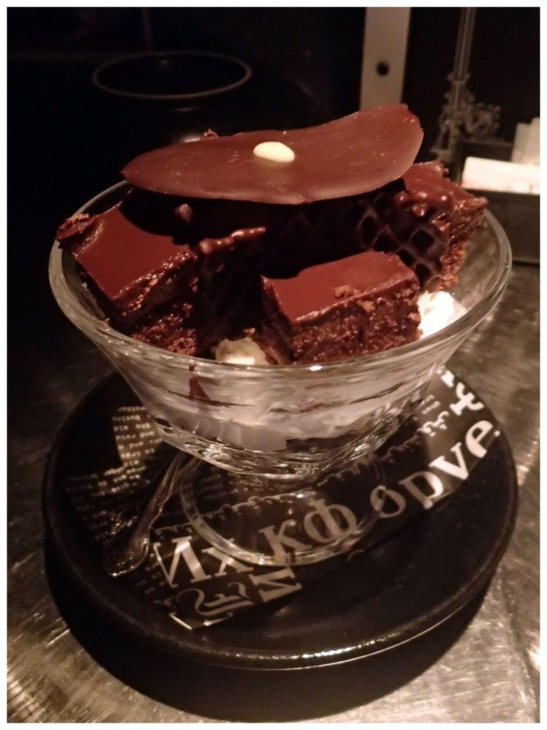 The brownie sundae
