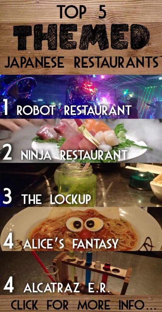 Top 5 Themed Japanese Restaurants