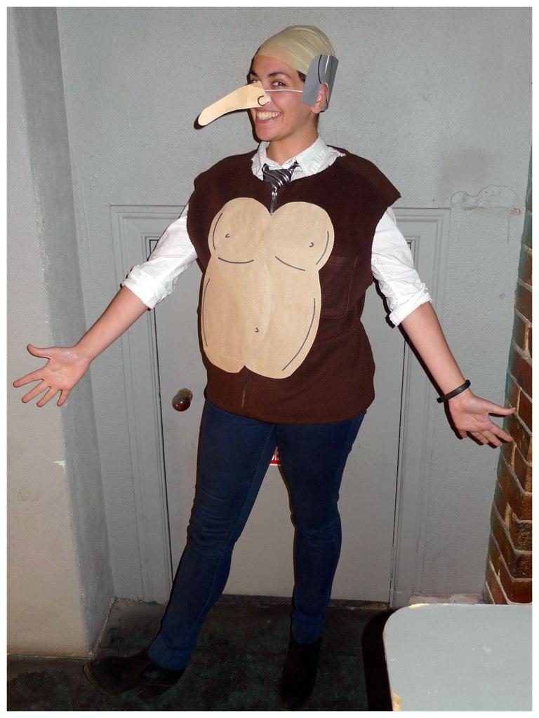 Mr Burns gorilla vest costume