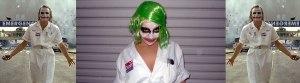 Joker in nurse outfit costume