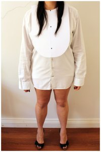 Breakfast at Tiffany's Tuxedo Shirt Costume outfit